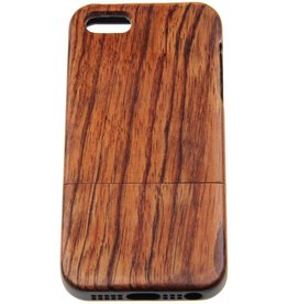 iPhone 5/5S/SE Wood Hard Case Dark-Brown