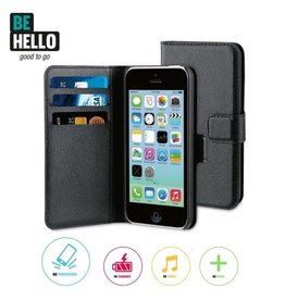 BeHello iPhone 5C Flip Case Black