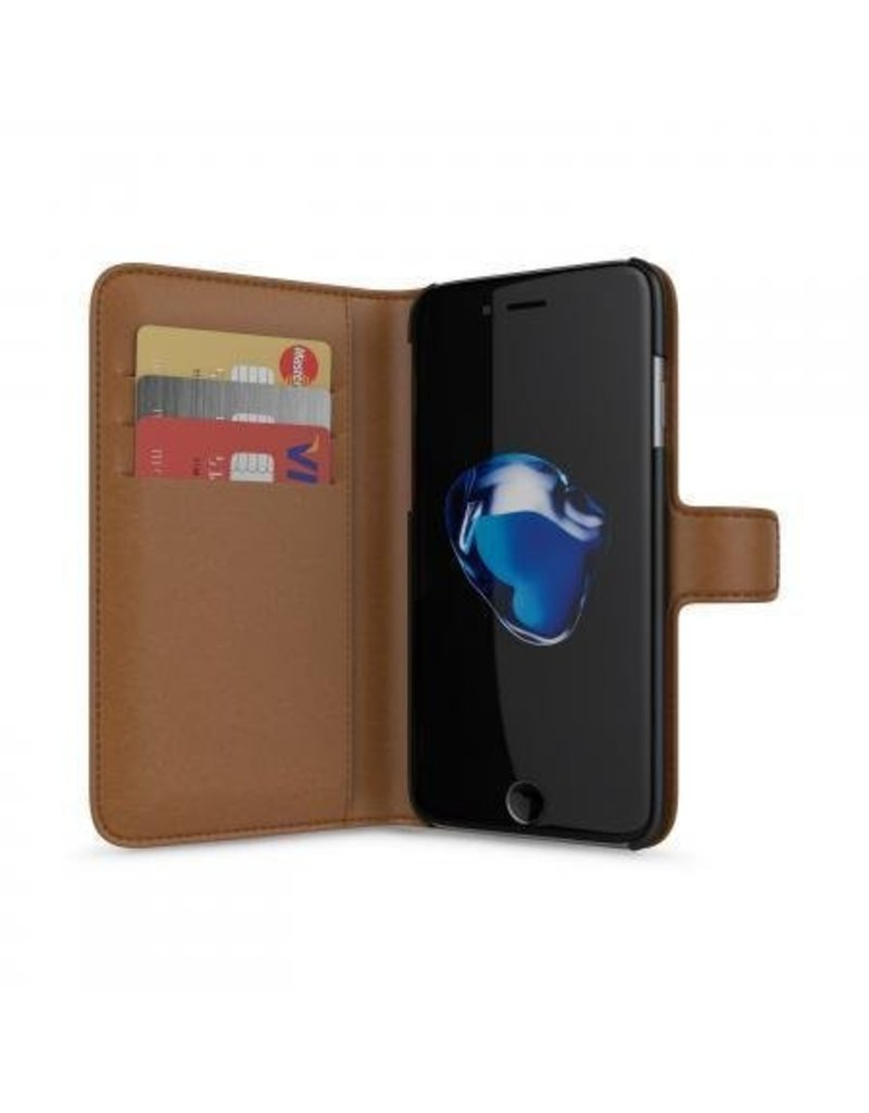 BeHello iPhone 7/6S/6 Wallet Case 3 Cardslots Brown