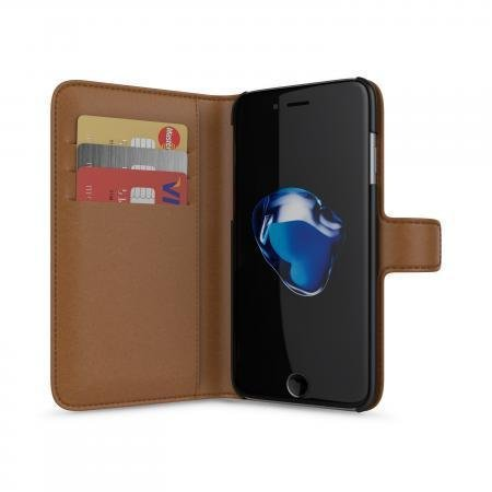 BeHello iPhone 7/6S/6 Wallet Case 3 Cardslots Brown