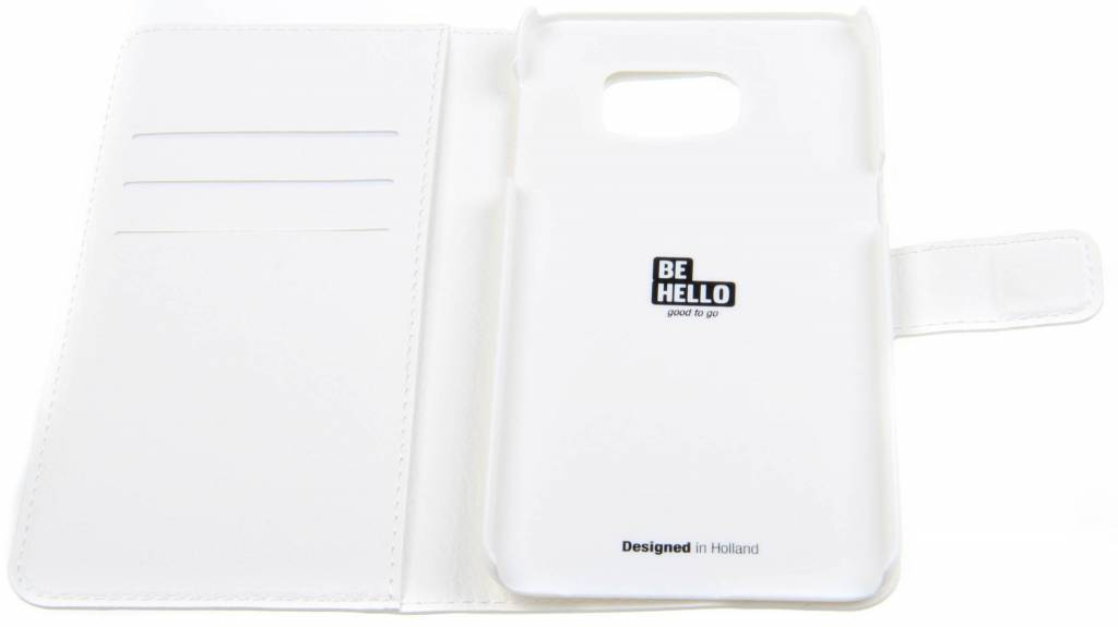 BeHello Samsung Galaxy S6 Edge Wallet Case White