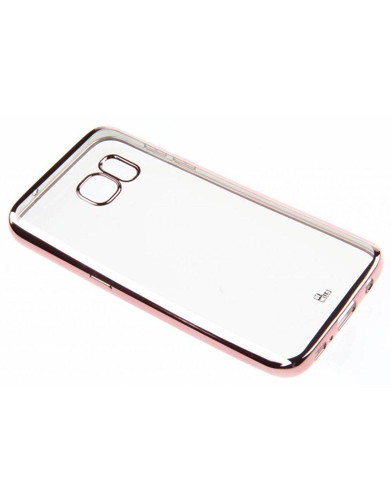 BeHello Samsung Galaxy S7 Gel Case Transparent Chrome Edge Rose Gold