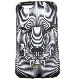 iPhone 6/6S Hard Case Animal geel