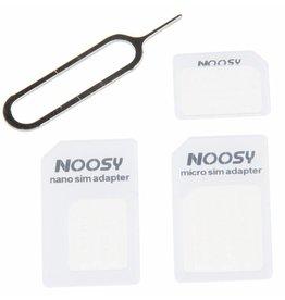 Universal Noosy Nano / Micro Sim Adapter White
