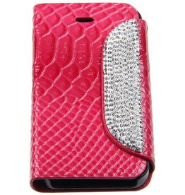 iPhone 4/4S Portable Protective Case Glitter Dark-Pink