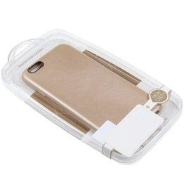iPhone 6/6S TPU Case Leather Gold