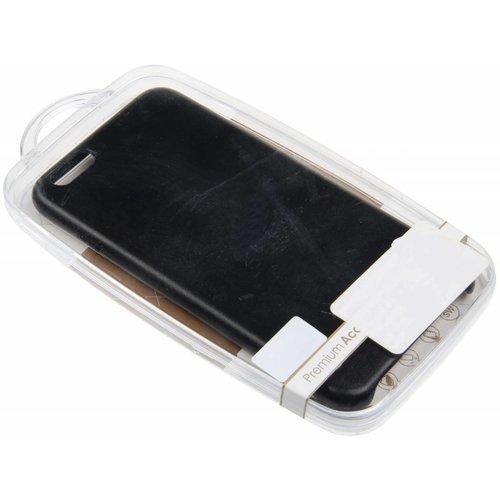 iPhone 6 Plus / 6S Plus H.Q. TPU Case Leather Black