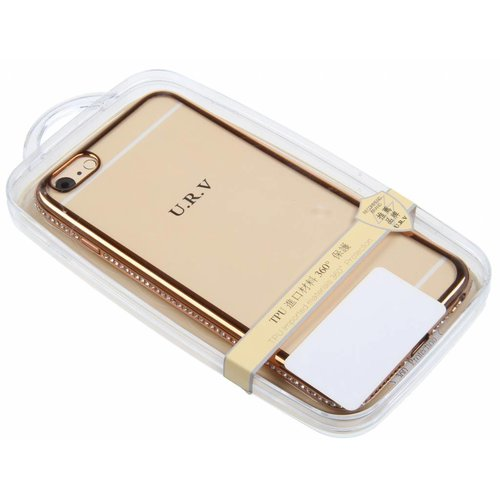 iPhone 6 Plus / 6S Plus U.R.V. TPU Case with Diamond Gold Edge TPU
