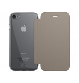 BeHello iPhone 7/6S/6 Book Case with Tranparent Back Gold
