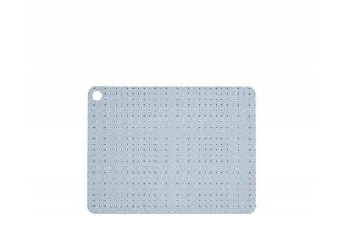 OYOY Placemats - pale grey blue dots - 2 pcs