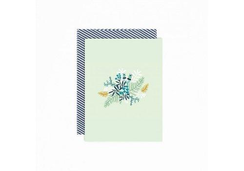 Paper Card - Karton - Wild Flowers - met envelop + adress sticker