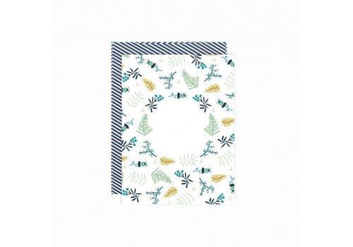 Paper Card - Flowerfield - met envelop