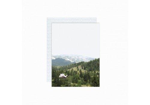 Paper Card - Mountains - met envelop