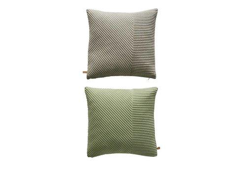 OYOY Cushion - Ada - grey / dusty green