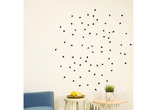 Chispum - triangle wall sticker small - black