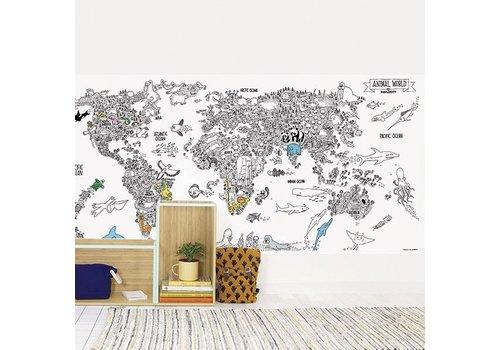 Chispum - animal world wallpaper to color - 58x118 - black