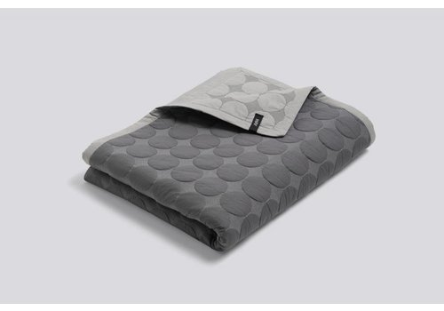 HAY Mega Dot Quilt - Dark Grey - 235x245cm