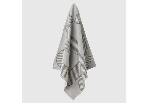 AYTM Figura tea towel - Black & Light grey - 2pcs