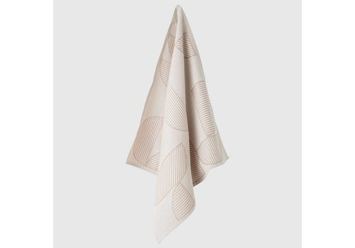 Figura tea towel - Rose & Light grey - 2pcs