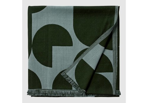 AYTM Forma throw - Forest & Pale mint