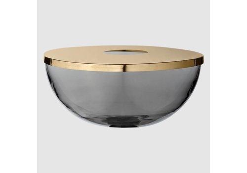 Tota - Vase/bowl - Black & Brass