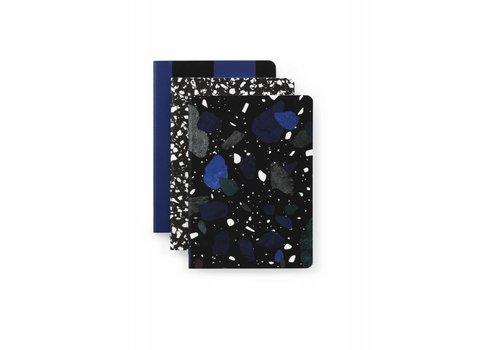 Normann Copenhagen Daily fiction - Notebook 3 pcs - Dark Print - Small