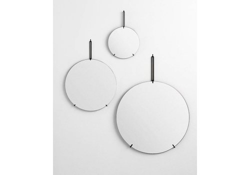 Moebe Wall mirror - black - 70cm