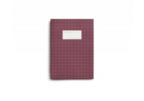 Notebook - Large - Grid - Dark Red