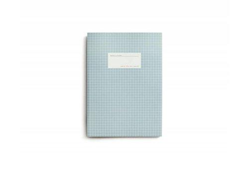 Notebook - Large - Grid - Light Blue