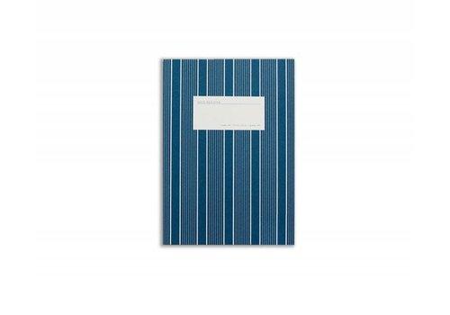 Notebook - Small - Stripes - Dark Blue