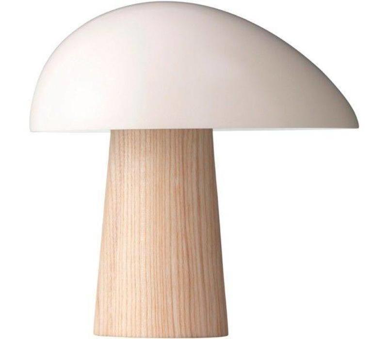 Lightyears Night Owl   Table Lamp   Smokey White   WOOD
