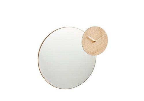 Woud Timewatch mirror - oak bent wood