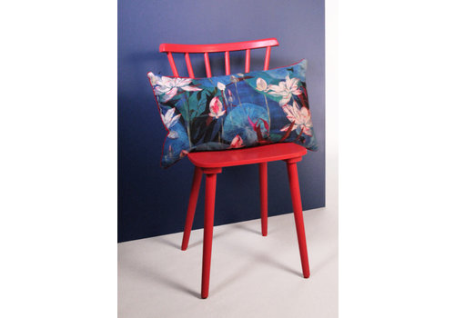 Waterside blue - cushion - blue & red - 65x40