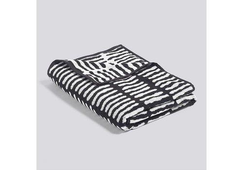 HAY He She It - beach towel - black  / cream - 170x90cm