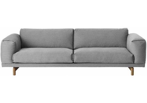 MUUTO REST sofa : 3-seater - steelcut trio 133