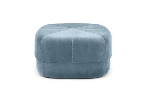 Normann Copenhagen Circus Pouf - L - Light Blue velour