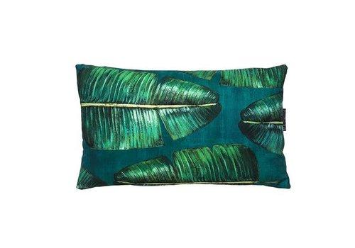 Runa Small - cushion - green leaves - 45x30