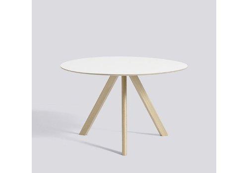 HAY CPH 20 - dia 120cm x 74cm - Soaped oak - White laminate