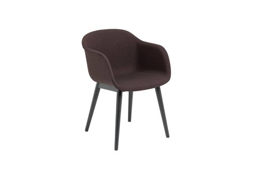 MUUTO Fiber armchair wood base fully upholstered