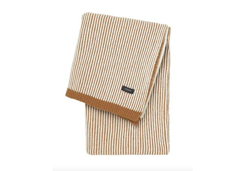 Louise Roe Sunday throw stripes brown/white