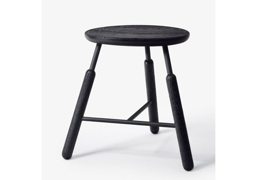 &Tradition Stool NA3-Black stained Oak-45cmH