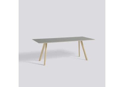 HAY CPH30 table - 250x90 - oak matt lacquer - matt lacquer plywood edge - grey lino tabletop