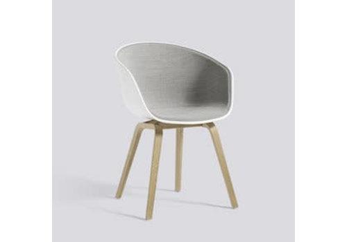 HAY AAC22 Chair oak matt lacquer - white shell front upholstry - remix 2/123 - carpet glider