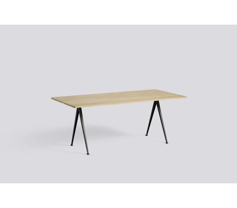 Pyramid Table 02 - Smoked Oil Oak - Beige frame - 190 x 85