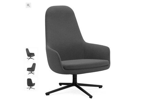 Normann Copenhagen Era lounge chair high - swivel base