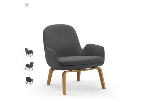 Normann Copenhagen Era lounge chair low - wood base - fame hybrid 1201