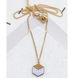Shlomit Ofir Cube Necklace - Gold