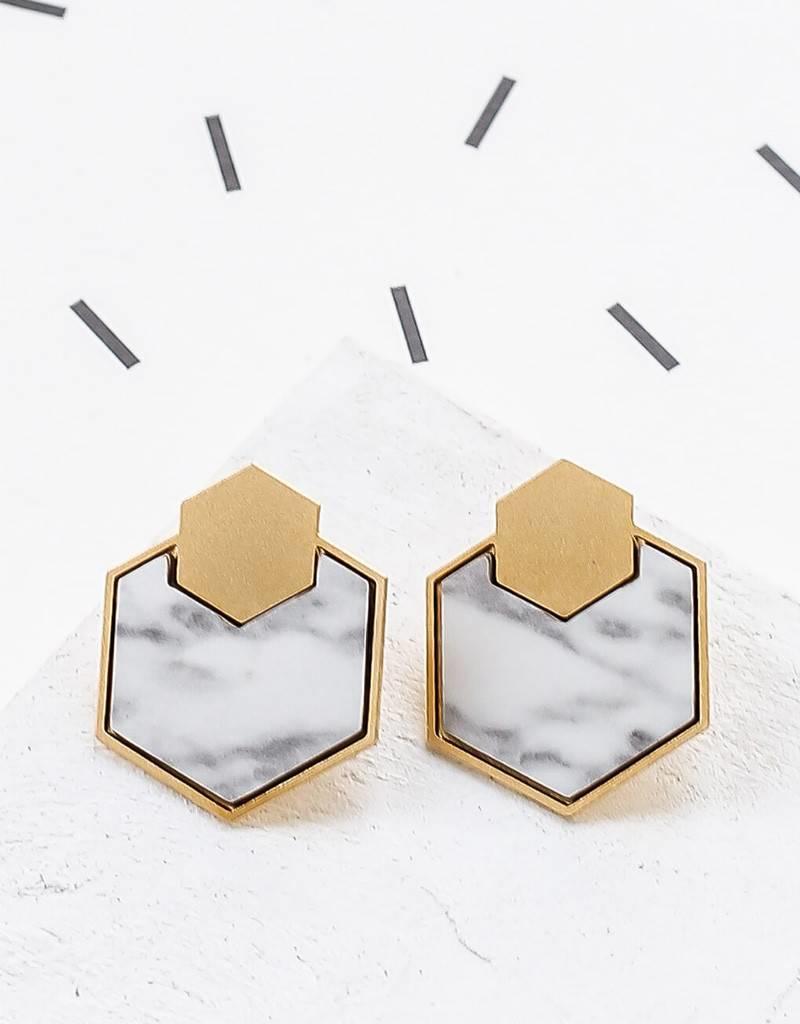 Shlomit Ofir Geometry Earring - Gold