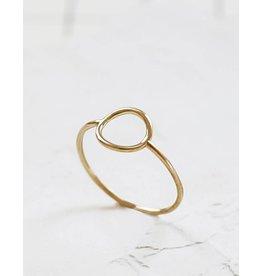 Shlomit Ofir Hollow Circle Ring - Gold
