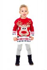 Weihnachtspulli Rudolph Rot Kinder - Jungen und Mädchen